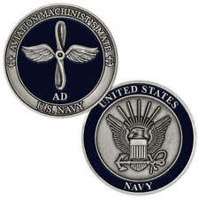 New U.S. Navy Aviation Machinist's Mate (Ad) Challenge Coin.