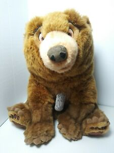 "Disney Store Small Kenai Plush Stuffed Brother Bear Movie 11"" With Necklace EUC"