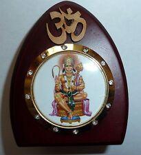 God Statue wooden car dashboard Hanuman study work Hindu Religious idol