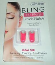 HEAROS Presents DAZZLEARS BLING Ear Plugs Block Noise Super Soft Foam NIP