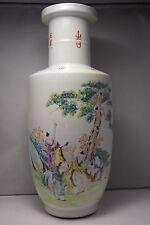 ANTIQUE/ VINTAGE Chinese Porcelain Famille Rose Vase Qianlong Mark  Rare 16,5''
