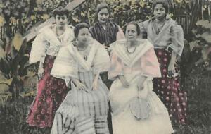 WOMEN FLOWERS FROM THE PHILIPPINE GARDEN POSTCARD (c. 1910)