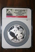 2012 Official Panda Issue 5 Oz 4 Spikes Singapore Coin Fair NGC PF 66 Cameo