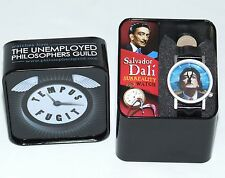 Herren Salvadore Dali Armbanduhr in schöner Dose Geschenkbox