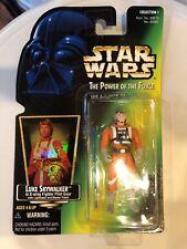 Luke Skywalker X-Wing 1996 Power of the Force POTF Star Wars GREEN Card