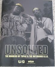 UNSOLVED THE MURDERS OF TUPAC & NOTORIOUS B.I.G. USA TV PROMO PRINT PRESS KIT