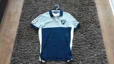 TOMMY HILFIGER MENS DARK BLUE / GREY SIZE LARGE POLO SHIRT TOP S/S CUSTOM FIT