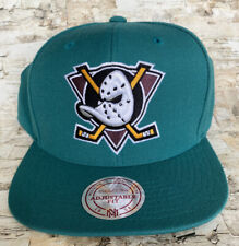 Anaheim Mighty Ducks Mitchell & Ness 20th Anniversary Snapback Hat Cap Vintage