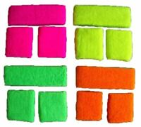 NEON SWEATBAND HEADBAND SET ARM BAND WRIST 80s FANCY DRESS RUN WRISTBANDS EVENT