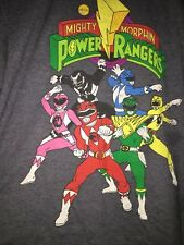 Vintage Power Rangers Original Classic Grey Shirt Size XXL