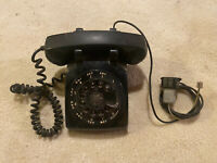 Vintage Black Rotary Desk Phone Western Electric Bell System 500DM