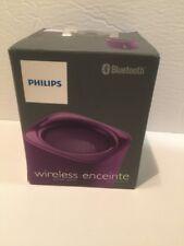 Philips BT100V/27 Wireless Portable Bluetooth Speaker, Purple, Pink, & Black