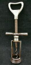 Vintage Twin Pillar Double Screw Action Corkscrew,  Bottle Opener to Top