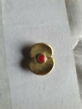 More details for gold somme poppy badge. remembering  100 years since the battle.