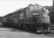 GG257 RP 1955 GMO GULF MOBILE & OHIO RAILROAD TRAIN ENGINE #807B CHICAGO IL