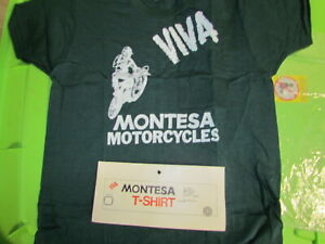 "Montesa ""Viva Montesa Motorcycle"" Green T-Shirt Tee Shirt Size USA Medium # 7"