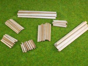 108 planks of timber wood - 00 gauge 1:76 model railway sawmill detail wood kit
