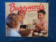 Irwin Buzz Words Buzzwords Board Game 1987 Vintage Bilingual French & English