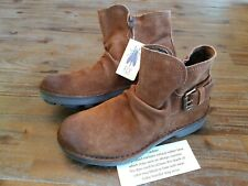 Fly London Neba 899 Oil Suede Camel Brown Leather Boots Women US 6.5-7 EU 37 NEW