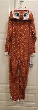 Cat & Jack Girls DEER Sleeper One Piece  Hooded Pajamas - Size Medium 7-8  - NEW