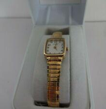 lorus ladies gold expander strap analogue watch rph56ax9 - bnib