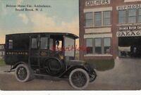 Postcard Bomer Motor Car Ambulance Bound Brook NJ New Jersey