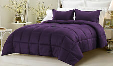 Box Stitching Stripe Down Alternative Comforter 3-Piece Queen Set, Select Color