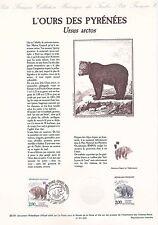 Document Philatélique Timbre 1er Jour : 14/09/ 1991 - L'Ours des Pyrénées