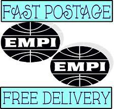 EMPI VW Decalcomania ovale vintage con camper VW Beetle Custom Split Screen Pack 2