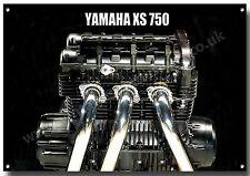 Yamaha XS 750 Motor Ausführung Metall Schild A3