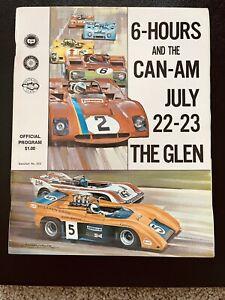 1972 Watkins Glen 6-Hours and CAN-AM Race Program