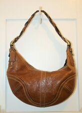 COACH Brown Pebbled Leather SOHO Braided Hobo Satchel Tote Purse Bag #10043