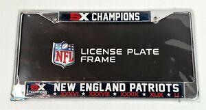 New England Patriots NFL 5x Super Bowl Champions Chrome License Plate Frame 721