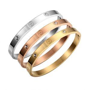 Screw Cross Love Bracelet Silver, Gold, Rose Gold Titanium Steel