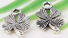 30Pcs Tibetan Silver(Lead-Free)4 Leaf Clover Charms Pendant 15x10mm