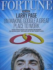 FREE US SHIPPING Brand New Fortune Magazine February 6, 2011 Larry Page Google