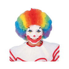 Multi-Color Rainbow Clown Afro Child Costume Wig Rubies 1971