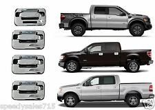 4pc Chrome Door Handles For 2004-2014 Ford F-150 F150 Stick On New Free Shipping