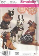 Dog Clothes Costumes in 3 Sizes S M L Simplicity 1031 Capes Hats & More Uncut