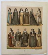 Religieuses FRANCE Chromolithographie originale RACINET 1888