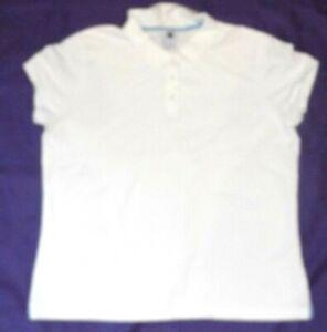 Boys shirt GAP KIDS size XL (18 20) white short sleeve polo shirt top (ch31)