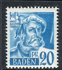 GERMANY ALLIED OCC BADEN;   1947 early pictorial Mint MNH unmounted 20pf.