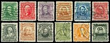 Scott 300-311 1902-1903 1c-$1.00 Regular Issues Used with Light Cancels Cat $168