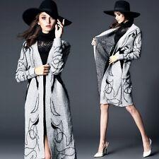 New Beauty Pattern bat sleeve long knitted Women Sweater Outwear