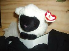 """Ty 8"""" Woolly the Black faced Lamb NWT White Fleece 8005 MWT"""