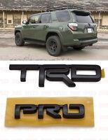 Toyota 4Runner Tacoma 2015-2021 TRD PRO Black Metal Emblem  PT413-00150