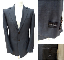 Men's PAUL SMITH £350RRP Pewter Grey SMART SUIT BLAZER JACKET Size 38 MED #2545