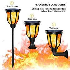 96LED Solar Flickering Flame Light Waterproof Outdoor Garden Path Torch Lamp