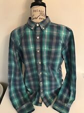 Mens Superdry Shirt  Size XL White Green Check