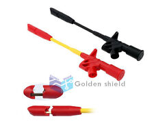 Fully Insulated Quick Piercing Test Clips Multimeter Test Probe SpringLoad ZBL10